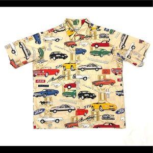 Reyn Spooner Hawaiian Shirt Mustang GT Print